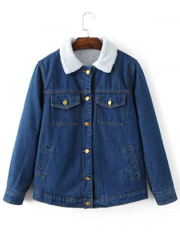 Online Fleece Lined Denim Jacket