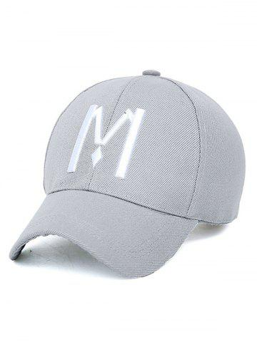 Outfits Embroidery Letter M Baseball Cap LIGHT GRAY