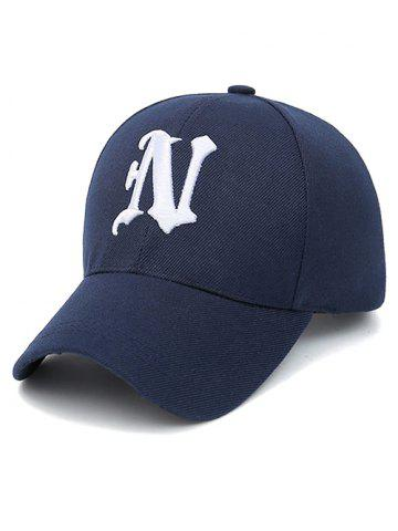 Latest N Letter Embroidery Baseball Cap