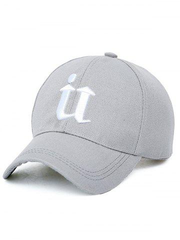 Fancy U Letter Embroidery Baseball Cap