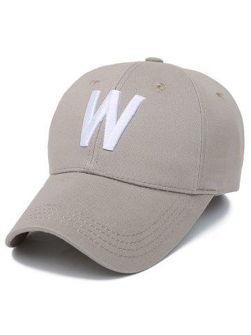 Shops W Letter Embroidery Baseball Cap