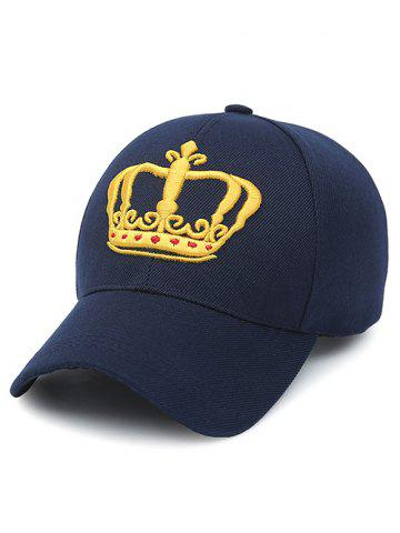 Sale Crown Embroidery Baseball Cap PURPLISH BLUE