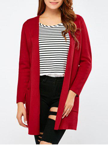 Store Open Front Pocket Hooded Cardigan