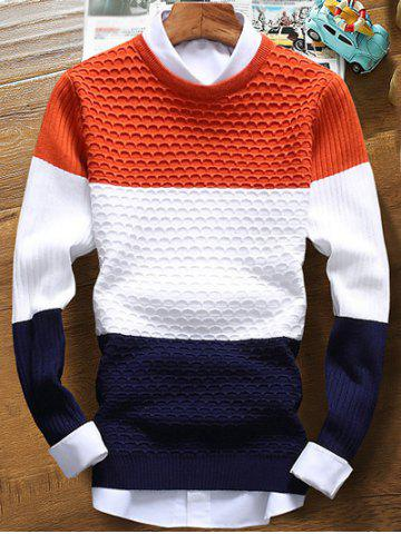 Outfit Color Striped Ribbed Texture Sweater