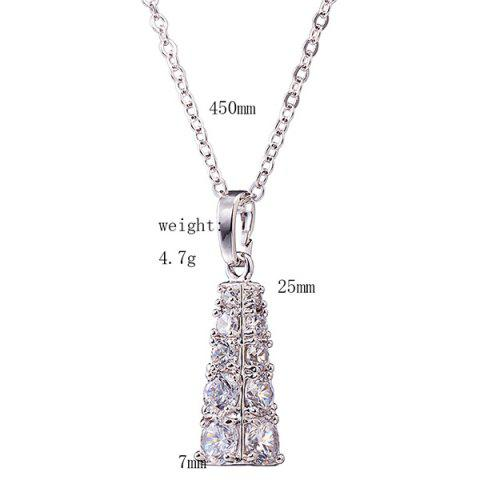 Discount Rhinestone Geoemtric Necklace Set - SILVER  Mobile