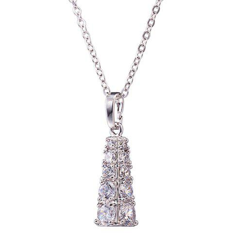 Outfit Rhinestone Geoemtric Necklace Set - SILVER  Mobile