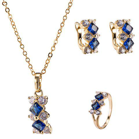 Outfits Polished Zircon Rhombus Necklace Set