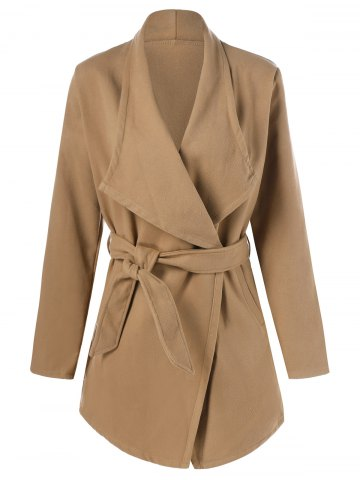 Outfit Wool Wrap Coat With Belt