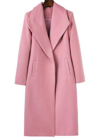 Affordable Long Wool Maxi Coat with Lapel