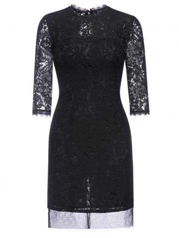 New Hollow Out Fitted Lace Dress