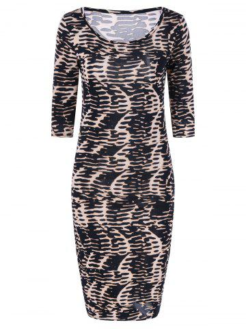 Store Leopard Knee Length Bodycon Dress