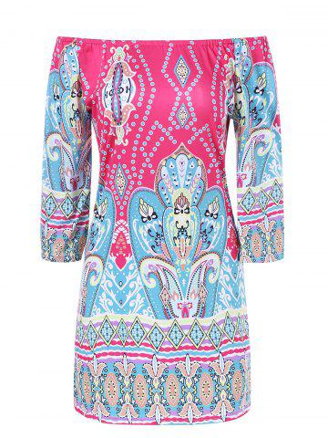 Buy Colorful Patterned Bohemian Dress COLORMIX XL