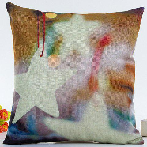 Chic Christmas Juggle Star Pillow Case COLORMIX
