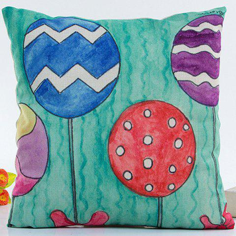 Fancy Cartoon Colorful Balloons Pillow Case MULTICOLOR