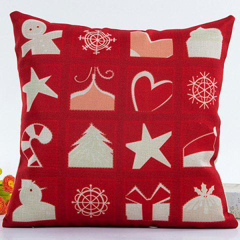Merry Christmas Pillow Case - Red - 45*45cm