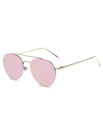 Shop Cool Cross Bar Mirror Pilot Sunglasses
