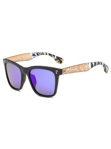 Cool Crack and Camouflage Panel Square Mirrored Sunglasses - Blue - 43*43cm