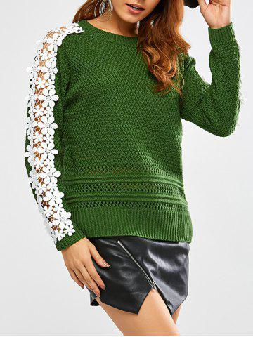New Lace Insert Chunky Sweater