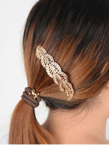 Discount Hollow Out Leaf  Hairpin - GOLDEN  Mobile