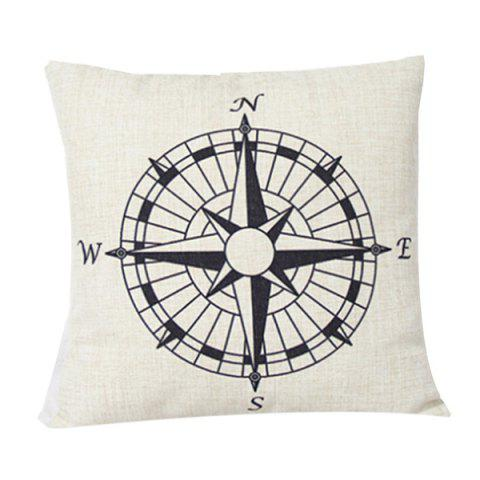 Best Compass Pattern Sofa Cushion Linen Pillow Case