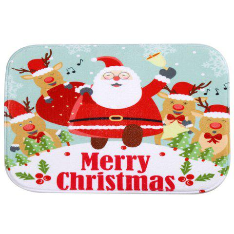 Discount Christmas Santa Antiskid Water Absorb Carpet For Bathroom - COLORFUL  Mobile