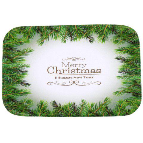 Christmas Tree Antiskid Water Absorb Carpet For Bathroom - Green