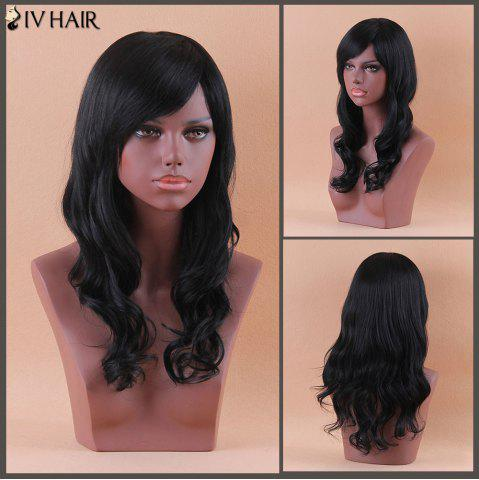 Shops Siv Long Oblique Bang Shaggy Wavy Human Hair Wig