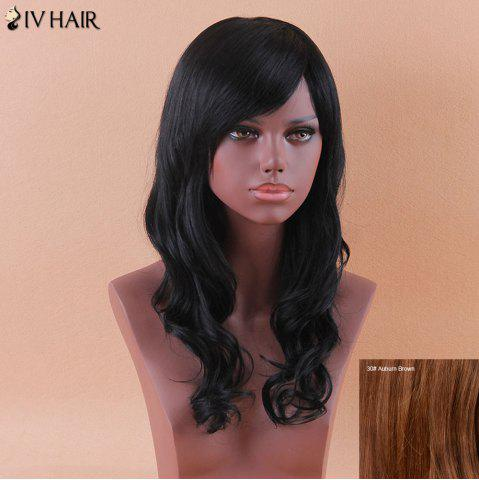 Outfit Siv Long Oblique Bang Shaggy Wavy Human Hair Wig