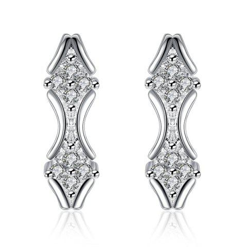 Outfit Embellished Rhombus Earrings SILVER