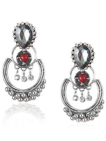 Online Bohemian Artificial Gem Beads Drop Earrings