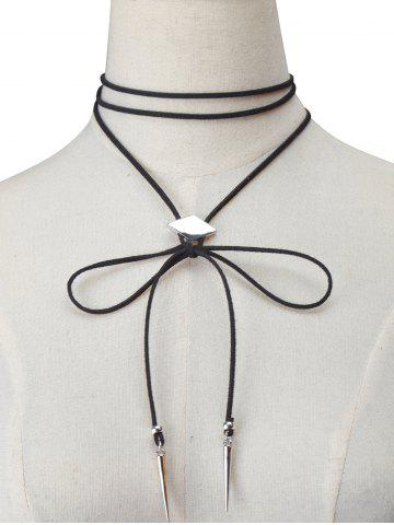 Hot Artificial Leather Velvet Geometric Choker Necklace