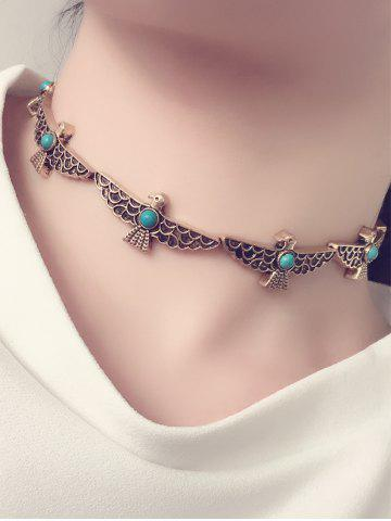 Buy Artificial Turquoise Peace Dove Choker Necklace