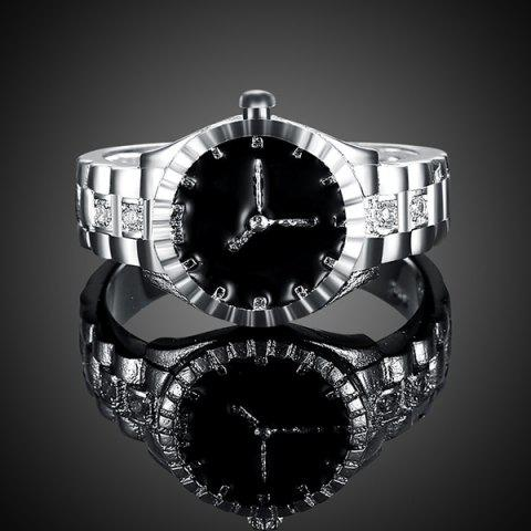 Shops Rhinestone Watch Ring - 8 SILVER Mobile
