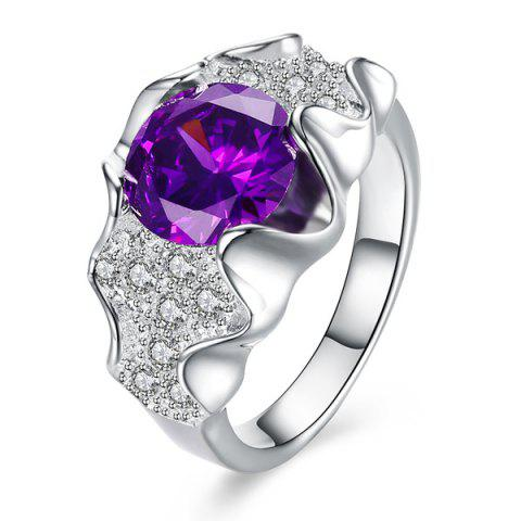 Online Artificial Amethyst Ring PURPLE 8