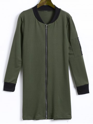 Outfits Longline Zip Up Jacket