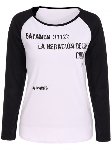 Buy Letter Graphic Raglan Sleeves T-Shirt