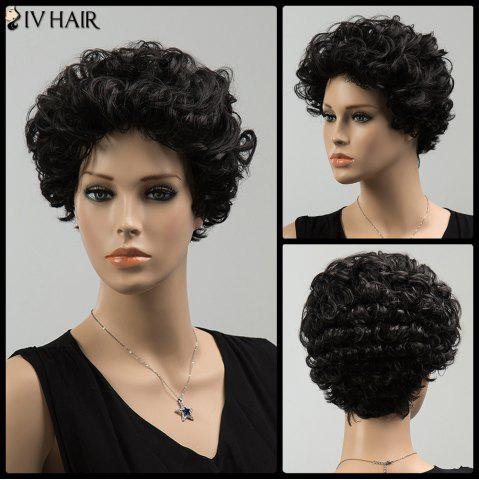 Latest Short Towheaded Curly Siv Human Hair Wig