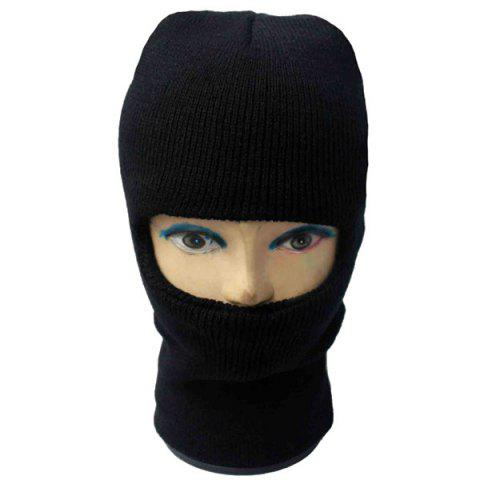 Unique Outdoor Knit Face Mask Neck Warmer Ski Cap - BLACK  Mobile