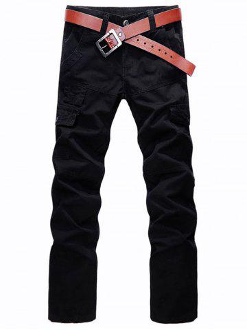 Sale Multi Pockets Zip Fly Straight Cargo Pants