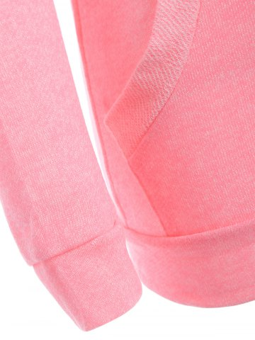 Store Half Button Hoodie With Pocket - L PINK Mobile