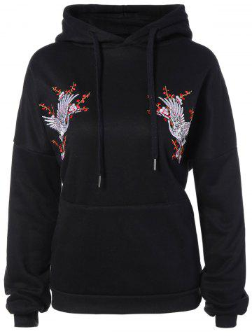 New Drawstring Animal Embroidered Hoodie