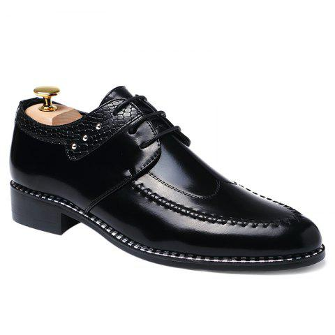 Fashion PU Leather Embossed Panel Formal Shoes