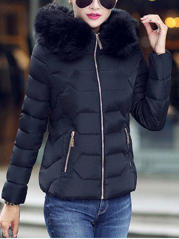 Buy Faux Fur Hooded Padded Jacket