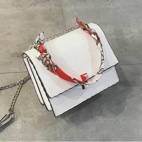 Hot Chain Covered Closure Scarves Crossbody Bag