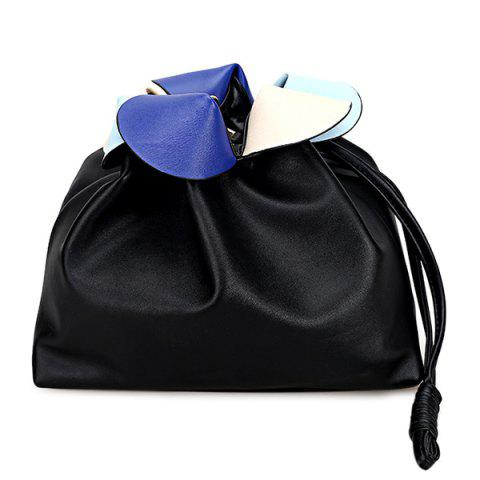 Buy Colour Spliced Petals Crossbody Drawstring Bag