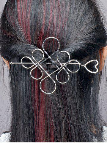 Sale Hollow Out Chinese Knot Hairpin SILVER