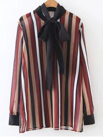 Best Bow Tie Colorful Striped Blouse