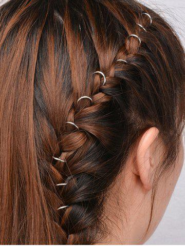 Unique 10 PCS Circle Hair Accessories SILVER