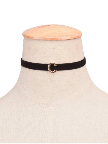 Trendy Letter Velvet Choker Necklace