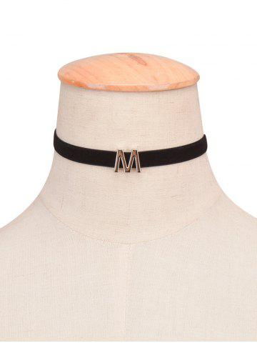 Best Letter Velvet Choker Necklace